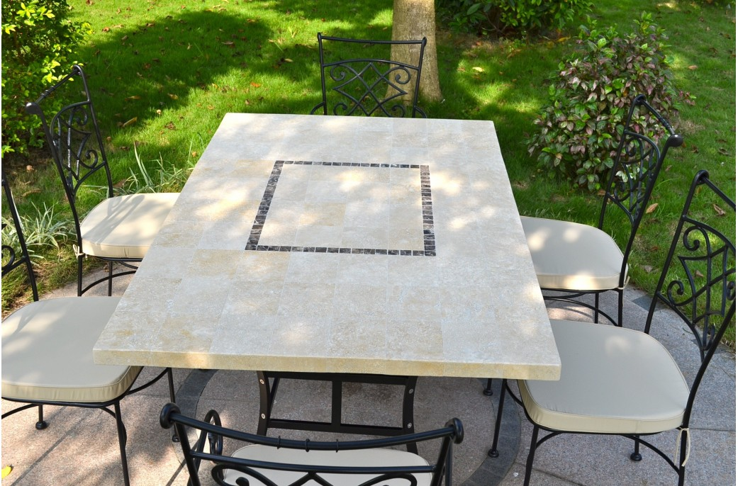 1600mm outdoor garden mosaic marble stone mosaic table monte carlo - Table jardin naterial villeurbanne ...