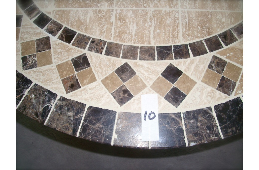 160 180cm Oval Outdoor Garden Stone Mosaic Marble Dining