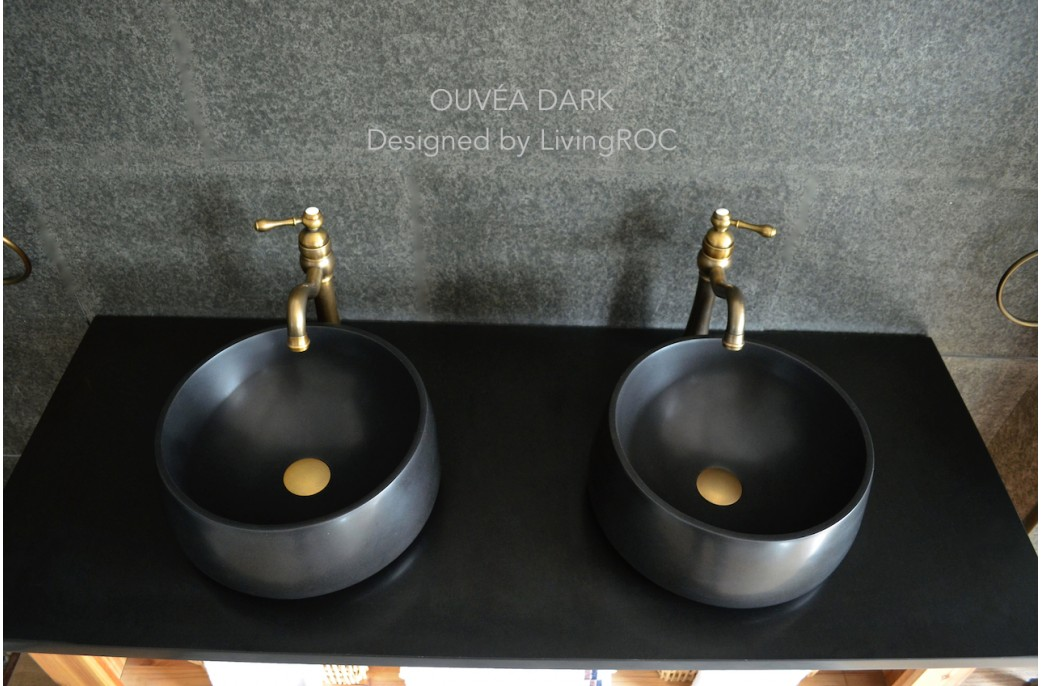 400mm Round Bathroom Basin Sink Black Basalt Stone OUVEA DARK : 400mm round bathroom basin sink black basalt stone ouvea dark from www.livingroc.co.uk size 1041 x 686 jpeg 145kB