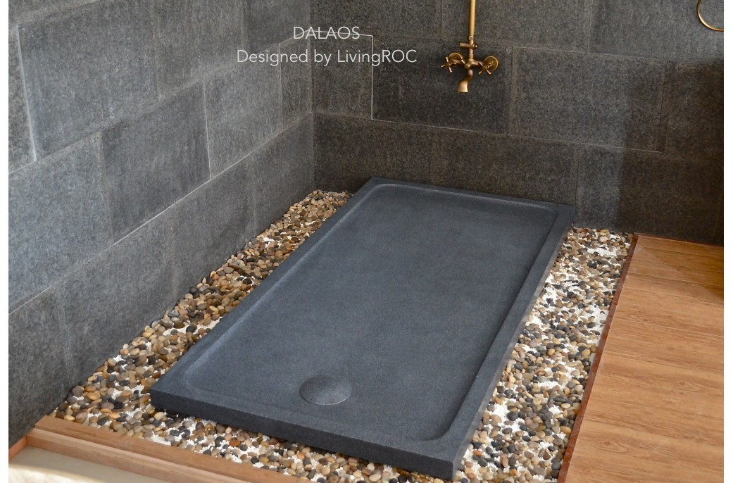 1800x900 granite shower tray grey stone dalaos. Black Bedroom Furniture Sets. Home Design Ideas