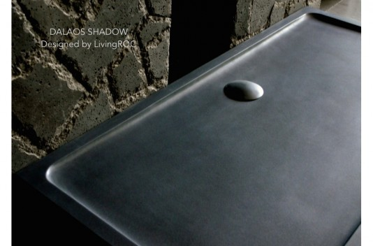 1800 x 900 Extra large Black Granite Stone Shower Tray DALAOS SHADOW