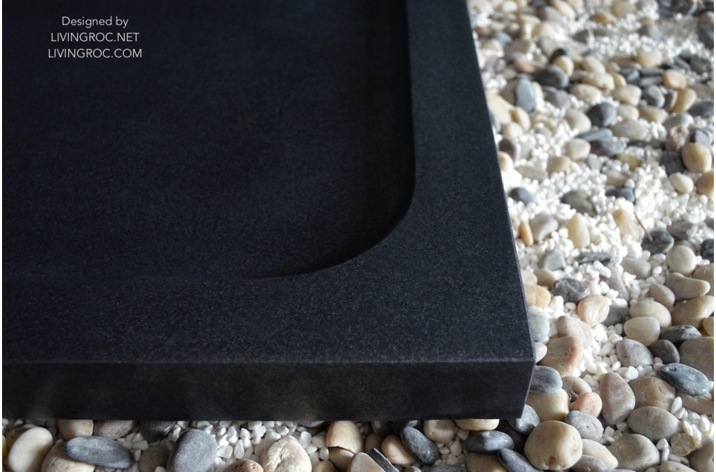 1400x900 Black Granite Shower Tray Bathroom Spacium Shadow