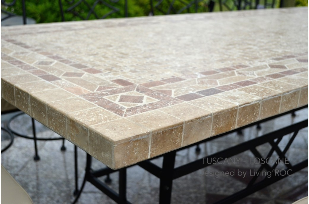 160 200 240cm Italian Mosaic Marble Outdoor Patio Table  : 160 200 240cm outdoor patio italian mosaic marble table tuscany from www.livingroc.co.uk size 1041 x 686 jpeg 135kB