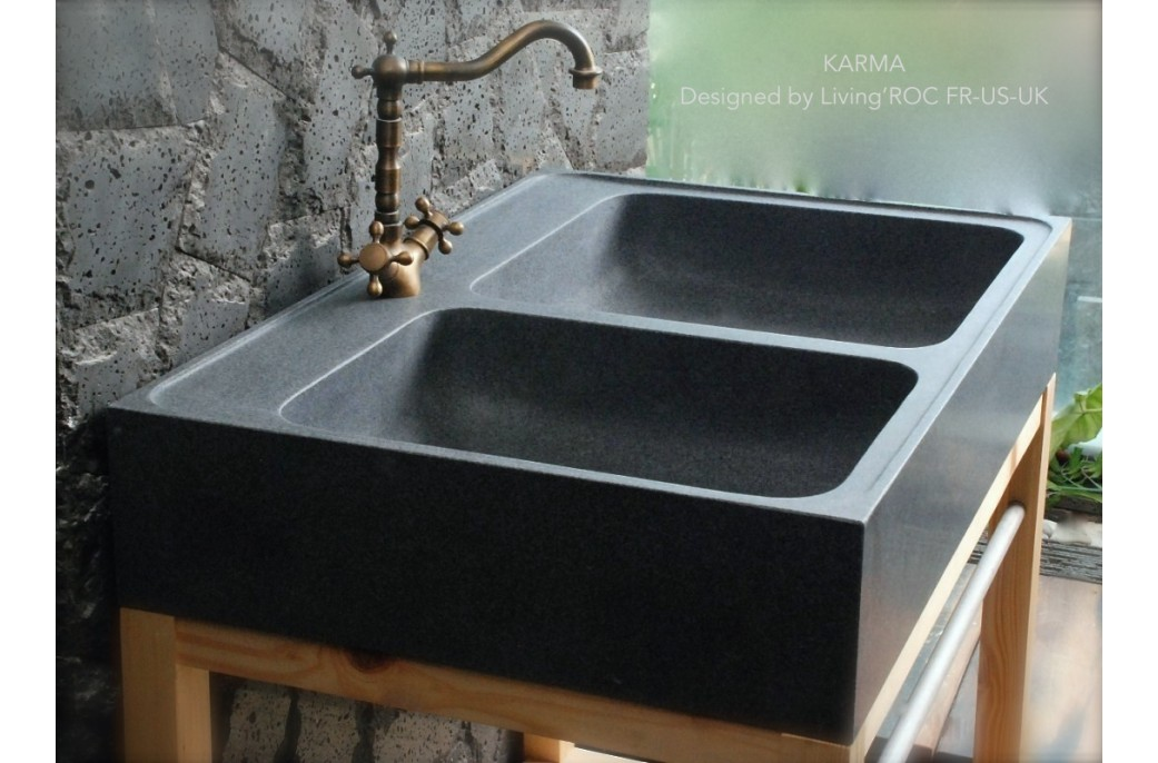 Stone Kitchen Sinks Uk : 900mm Genuine Granite Stone FarmHouse Kitchen Sink - KARMA