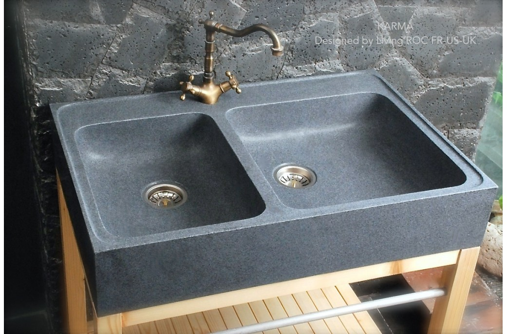 900mm Luxury Genuine Granite FarmHouse Kitchen sink - KARMA