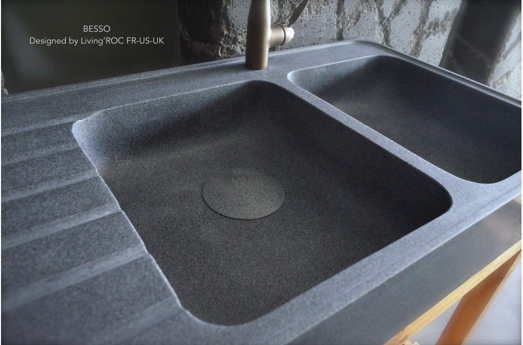 Marble Bowl Sink : 1200mm Double Bowl Kitchen Sink Granite Stone - BESSO