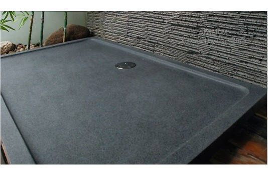 1400x900 Grey Granite Stone Shower Tray SPACIUM
