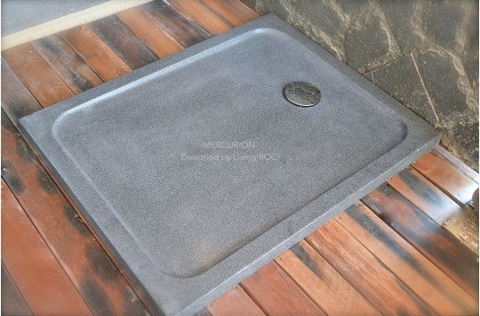 1000x800 Grey Granite Stone Shower Tray - MERCURION