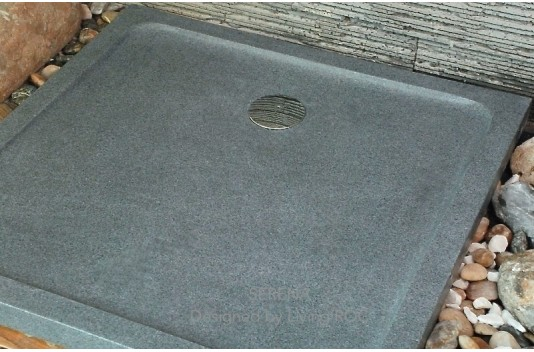 1000x1000 Grey Granite Stone shower Tray - SQUARIUM