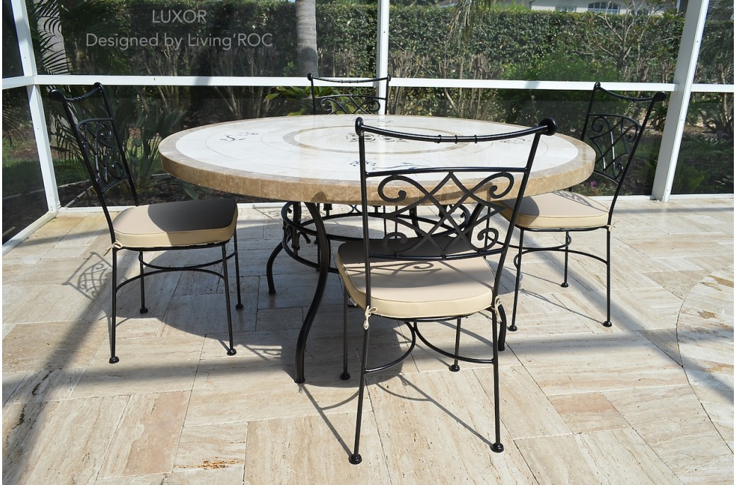 170cm Round Outdoor Garden Marble Mosaic Dining Table LUXOR : 170cm round outdoor garden marble mosaic dining table luxor from www.livingroc.co.uk size 1041 x 686 jpeg 237kB