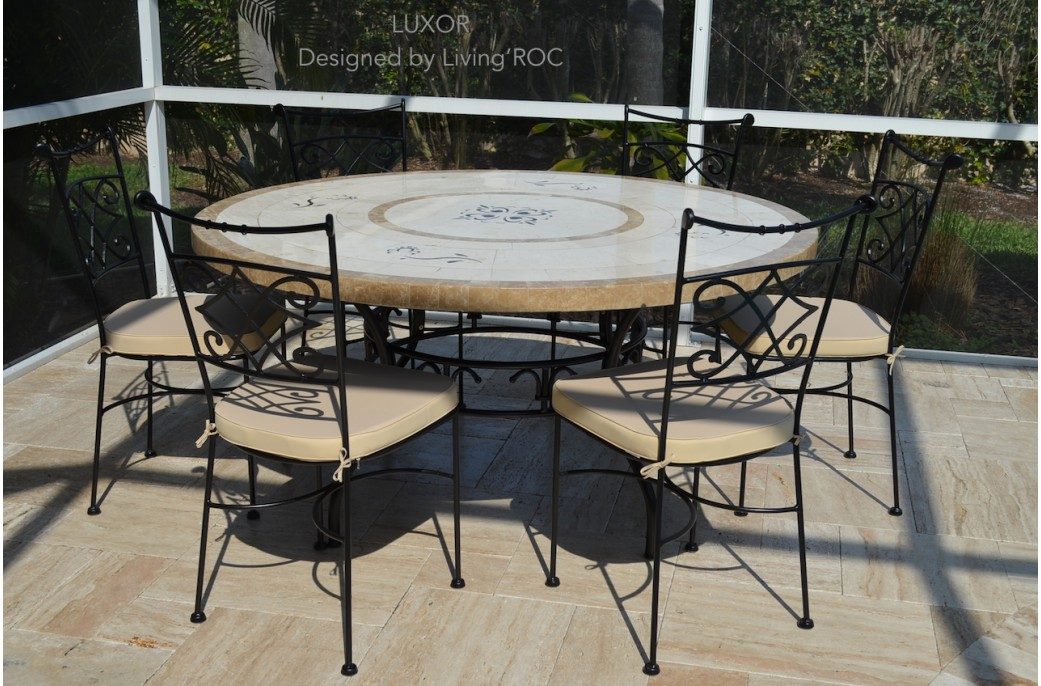170cm Round Outdoor Garden Marble Mosaic Dining Table LUXOR : 170cm round outdoor garden marble mosaic dining table luxor from www.livingroc.co.uk size 1041 x 686 jpeg 200kB
