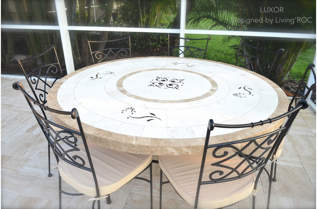 170cm Round Outdoor Garden Marble Mosaic Dining Table LUXOR : 170cm round outdoor garden marble mosaic dining table luxor from www.livingroc.co.uk size 1041 x 686 jpeg 181kB