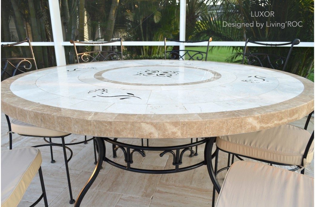 170cm Round Outdoor Garden Marble Mosaic Dining Table LUXOR : 170cm round outdoor garden marble mosaic dining table luxor from www.livingroc.co.uk size 1041 x 686 jpeg 166kB