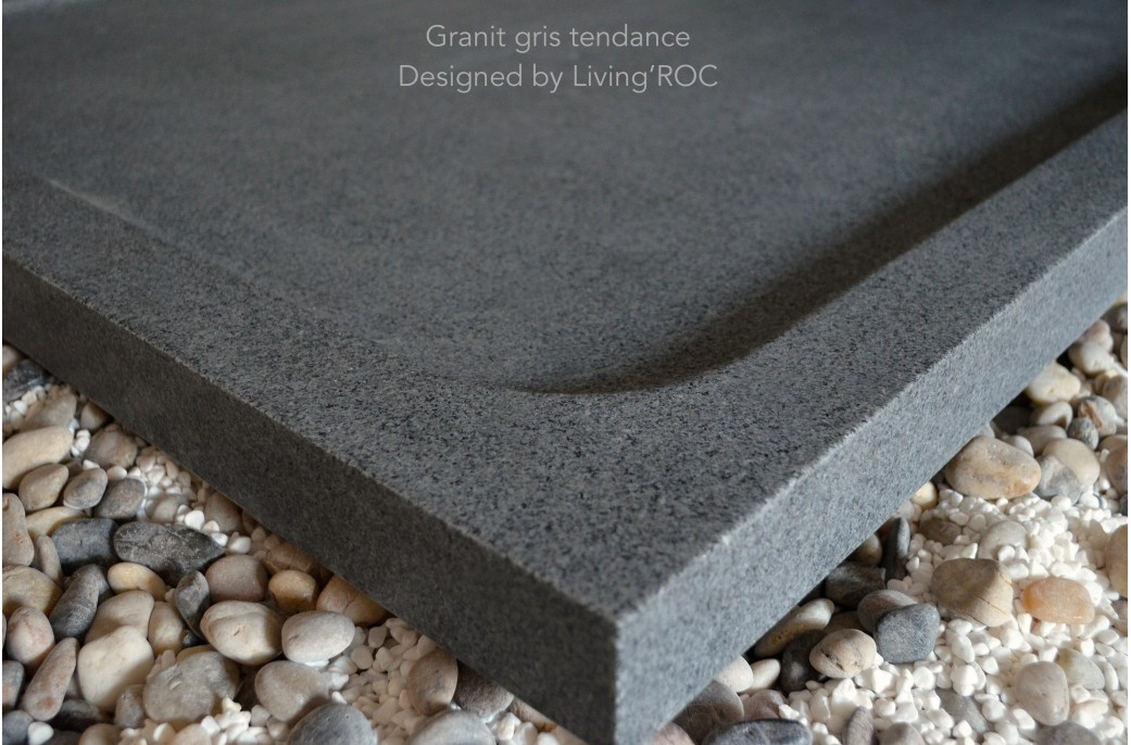 1400x1000 Grey Granite Stone Shower Tray Palm Uk