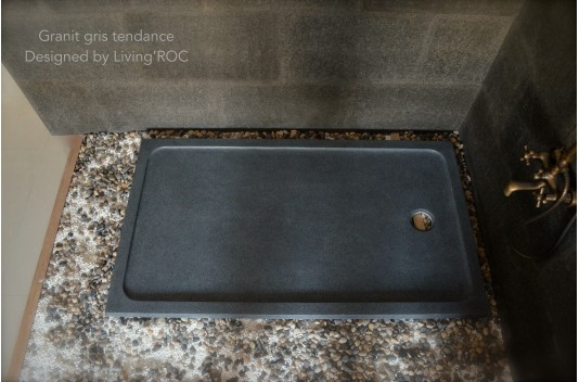 1400x1000 Grey Granite Stone Shower Tray - PALM