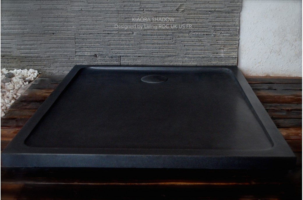 1200x1000 Black Granite Stone Bathroom Shower Tray Kiaora